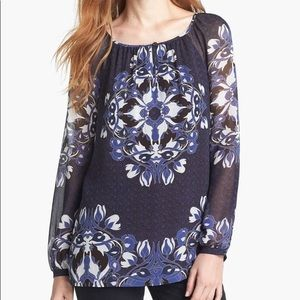 Tory Burch Lisa Silk Floral Blouse